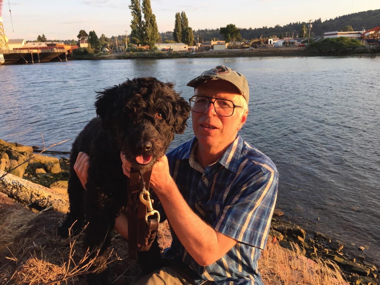Doug Nufer and his dog