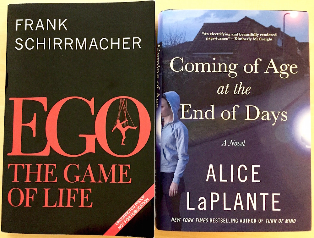 Ego, the game of live, by Frank Schirrmacher and Coming of Age at the End of Days by Alice LaPlante
