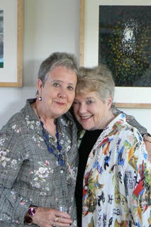 Tess Gallagher (left) and Joan Swift. Photo courtesy Tess Gallagher.
